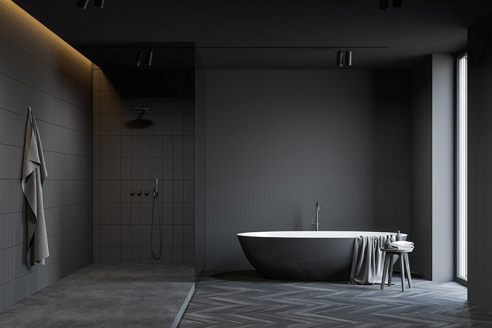 Glen Iris gray colored bathroom design